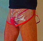 transparente PVC-Shorts Chris