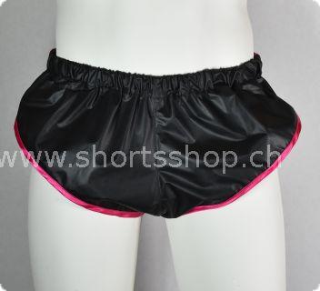 Nylon Shorts Chris aus sehr leichtem schwarzem Gewebe