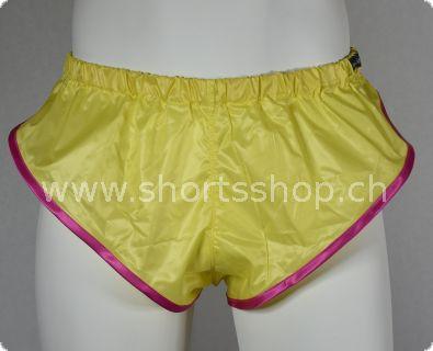 Nylon Shorts Chris aus sehr leichtem gelbem Gewebe