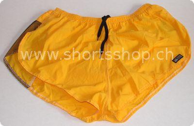 De Soto Shorts gelb mit verschliessbarem Einsteckfach