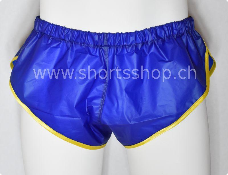 PVC-Shorts Chris dunkelblau mit gelber Einfassung