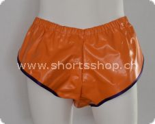 Shorts Dennys aus dickem PVC in orange