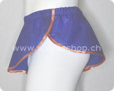 PVC-Shorts Dennys dunkelblau mit oranger Einfassung