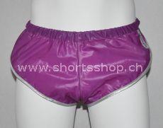 Nylon Shorts Chris aus sehr leichtem, violettem Gewebe