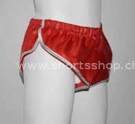Nylon Shorts Chris aus sehr leichtem, rotem Gewebe