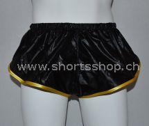 Nylon Shorts Dennys aus sehr leichtem, schwarzem Gewebe