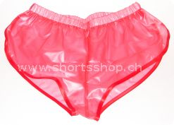 PVC-Shorts Andreas hellrot mit roter Einfassung
