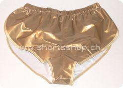 Lackshorts Andreas bronze mit goldfarbiger Einfassung