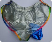 PVC-Shorts, extra knapp aus durchschimmernden Material