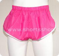 Nylon-Shorts Andreas pink mit silberfarbiger Einfassung