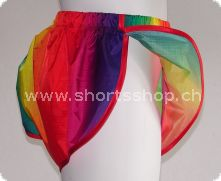 Andreas Ripstop-Shorts rainbow mit roter Einfassung