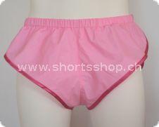 PVC-Shorts Chris pink mit dunkelpink Einfassung